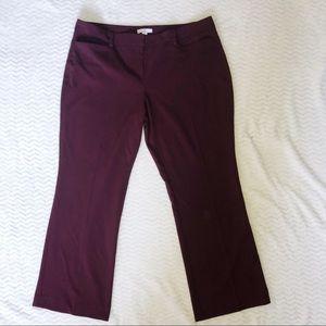 New York & Company Burgundy Stretch Dress Pants